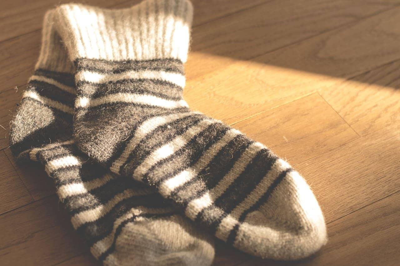 Шерстяные носки от переохлаждения зимой
